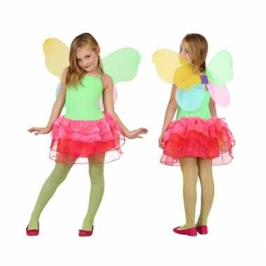 Baby carnavalskleding vlinder groen/rood online