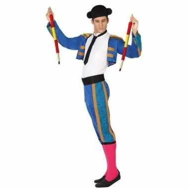 Blauwe spaanse matador/stierenvechter verkleedcarnavalskleding volwa
