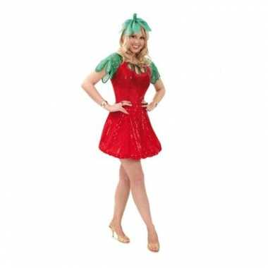 Carnavalskleding aardbeien pak dames online