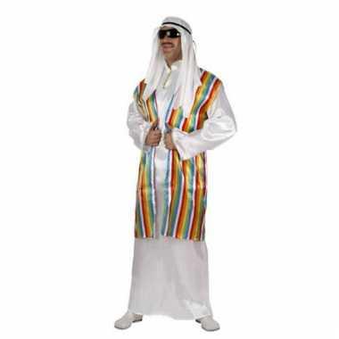 Carnavalskleding arabieren pak regenboog vest online