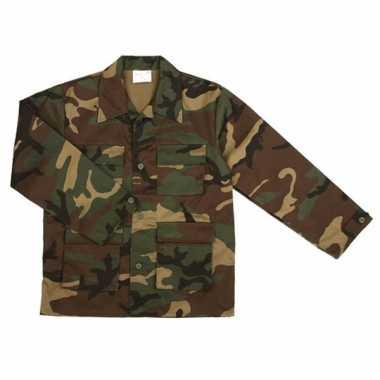 Carnavalskleding army jas baby woodland camouflage online