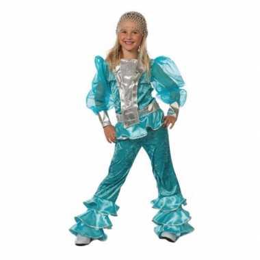 Carnavalskleding blauw dancing queen meiden online