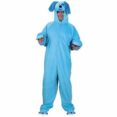 Carnavalskleding blauw honden pak online
