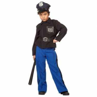 Carnavalskleding blauw politiepak jongen online