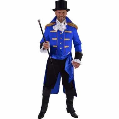 Carnavalskleding blauwe baron verkleed jas heren online