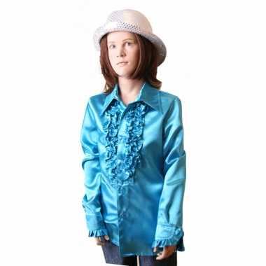 Carnavalskleding blauwe hippie blouse meisjes online