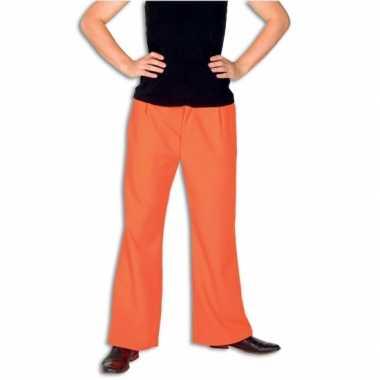 Carnavalskleding broek oranje kleur online