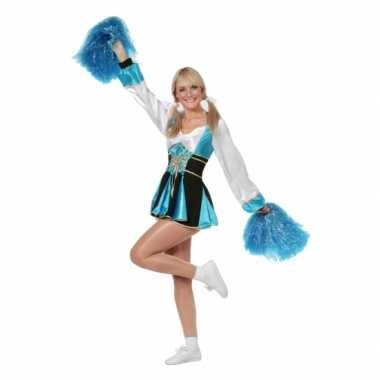 Carnavalskleding cheerleader jurkjes aqua vrouwen online