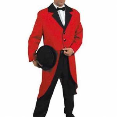 Carnavalskleding circus directeur jasje rood online