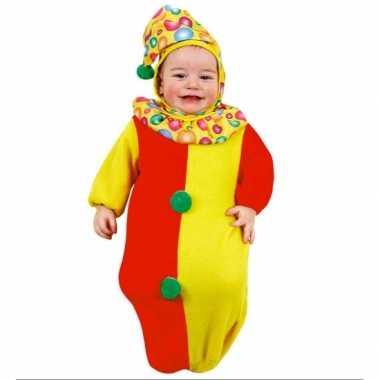 Carnavalskleding clowntjes trappelzak baby online