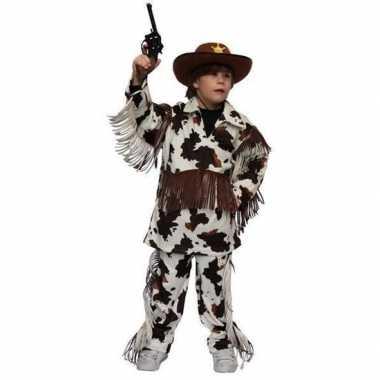 Carnavalskleding cowboy pak koeienprint baby online