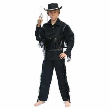 Carnavalskleding cowboy pak zwart baby online