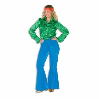 Carnavalskleding dames broek blauw wijd uitlopend online