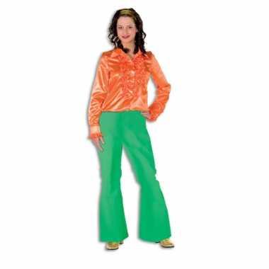 Carnavalskleding dames broek groen wijd uitlopend online