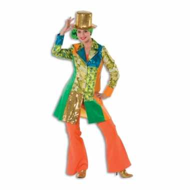 Carnavalskleding dames broek oranje wijd uitlopend online