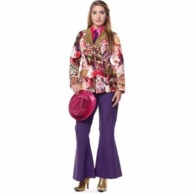 Carnavalskleding dames broek paars wijd uitlopend online