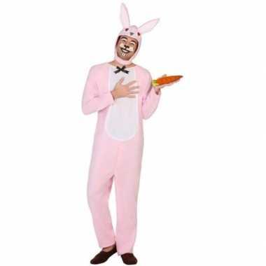 Carnavalskleding dieren onesie paashaas/konijn volwassenen online