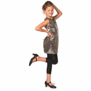 Carnavalskleding disco jurkje zilver meiden online
