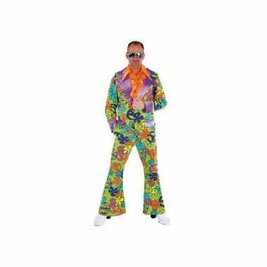 Carnavalskleding disco peace pak gekleurd heren online