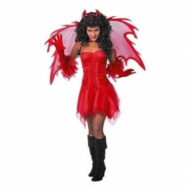 Carnavalskleding duivel jurk rood dames online