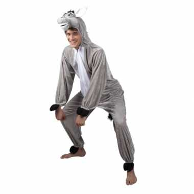 Carnavalskleding ezel onesie dierenpak online