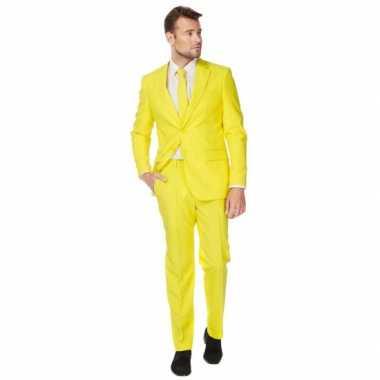 Carnavalskleding fel geel maatpak heren online