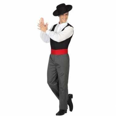 Carnavalskleding flamenco danser verkleedpak heren online