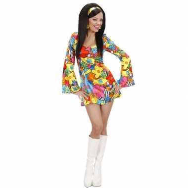 Carnavalskleding  Flower power jurkje dames online
