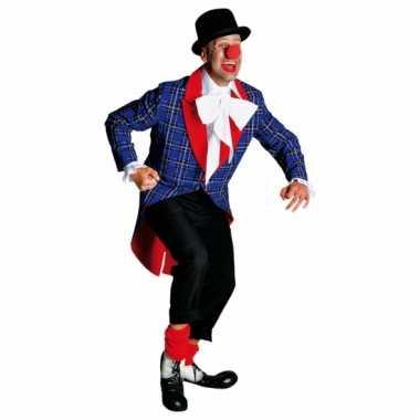 Carnavalskleding geblokte clown jas rood accent online