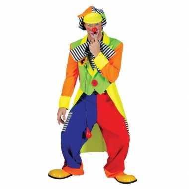 Carnavalskleding gekleurd clownpak heren online