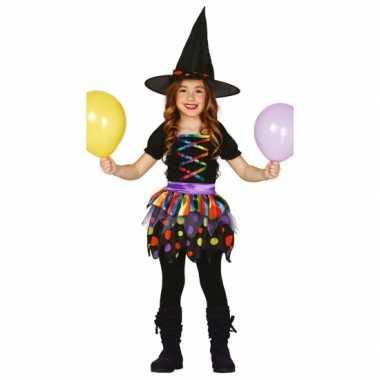 Carnavalskleding gekleurd heksen jurkje meisjes online