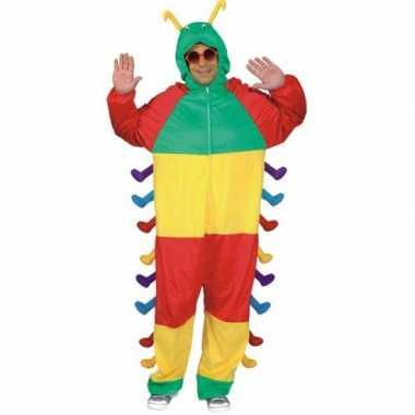 Carnavalskleding gekleurd verkleedpak rups online