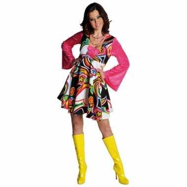 Carnavalskleding gekleurde bloemen jurk dames online