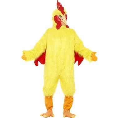 Carnavalskleding gele kippen oufit volwassenen online