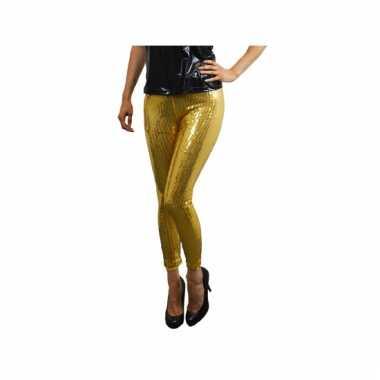 Carnavalskleding gouden dames leggings pailletten online