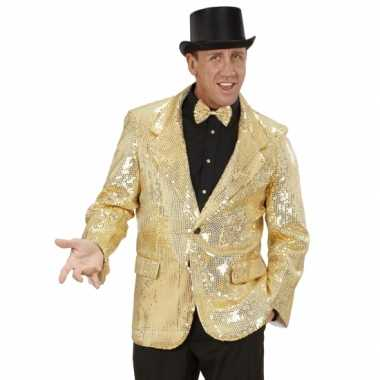 Carnavalskleding gouden glitter colbert online