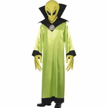 Carnavalskleding groen alien pak volwassenen online