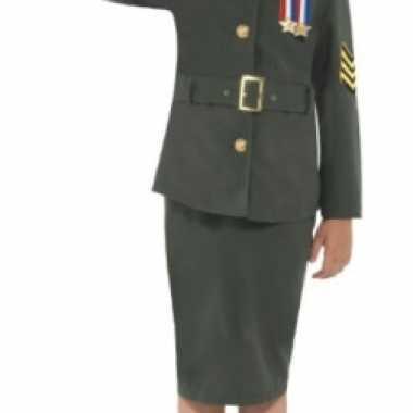 Carnavalskleding groen soldaten uniform meisjes online