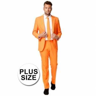 Carnavalskleding grote maat oranje pak online