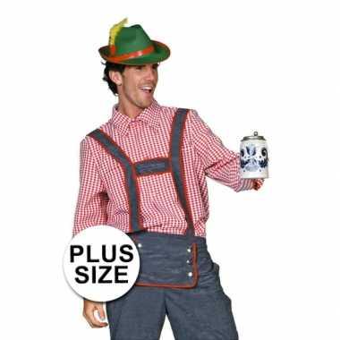 Carnavalskleding grote maat tiroler heren blouse online
