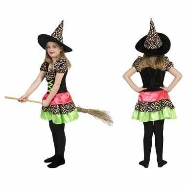 Carnavalskleding heksen jurk hoed meisjes online