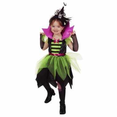Carnavalskleding heksen jurkje groen/zwart baby online