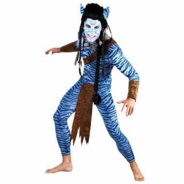Carnavalskleding heren s pak blauwe jungle strijder online