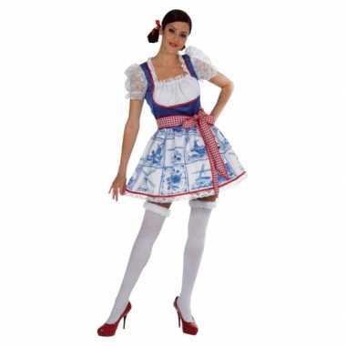 Carnavalskleding hollands delfts blauw dames jurkje online