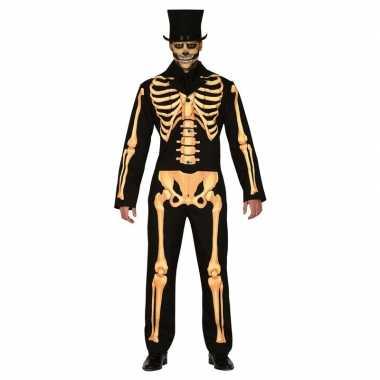 Carnavalskleding horror skelet verkleed pak heren online