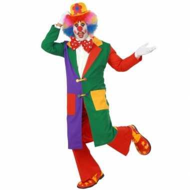 Carnavalskleding lange clown jas volwassenen online