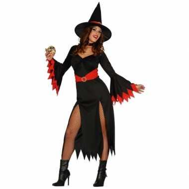 Carnavalskleding lange heksen jurk zwart online