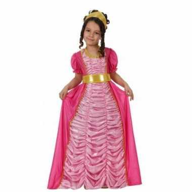 Carnavalskleding lange roze prinsessen jurk baby online