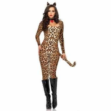 Carnavalskleding leg avenue sexy luipaard catsuit oortjes online