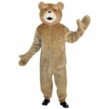 Carnavalskleding lichtbruine ted beer pak online